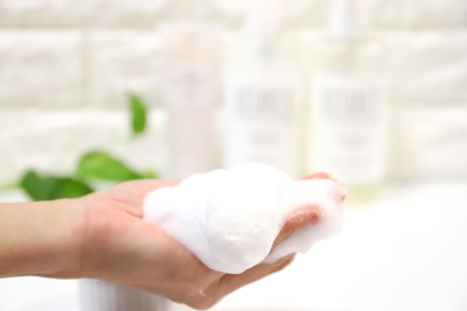 洗顔する時の優しい泡
