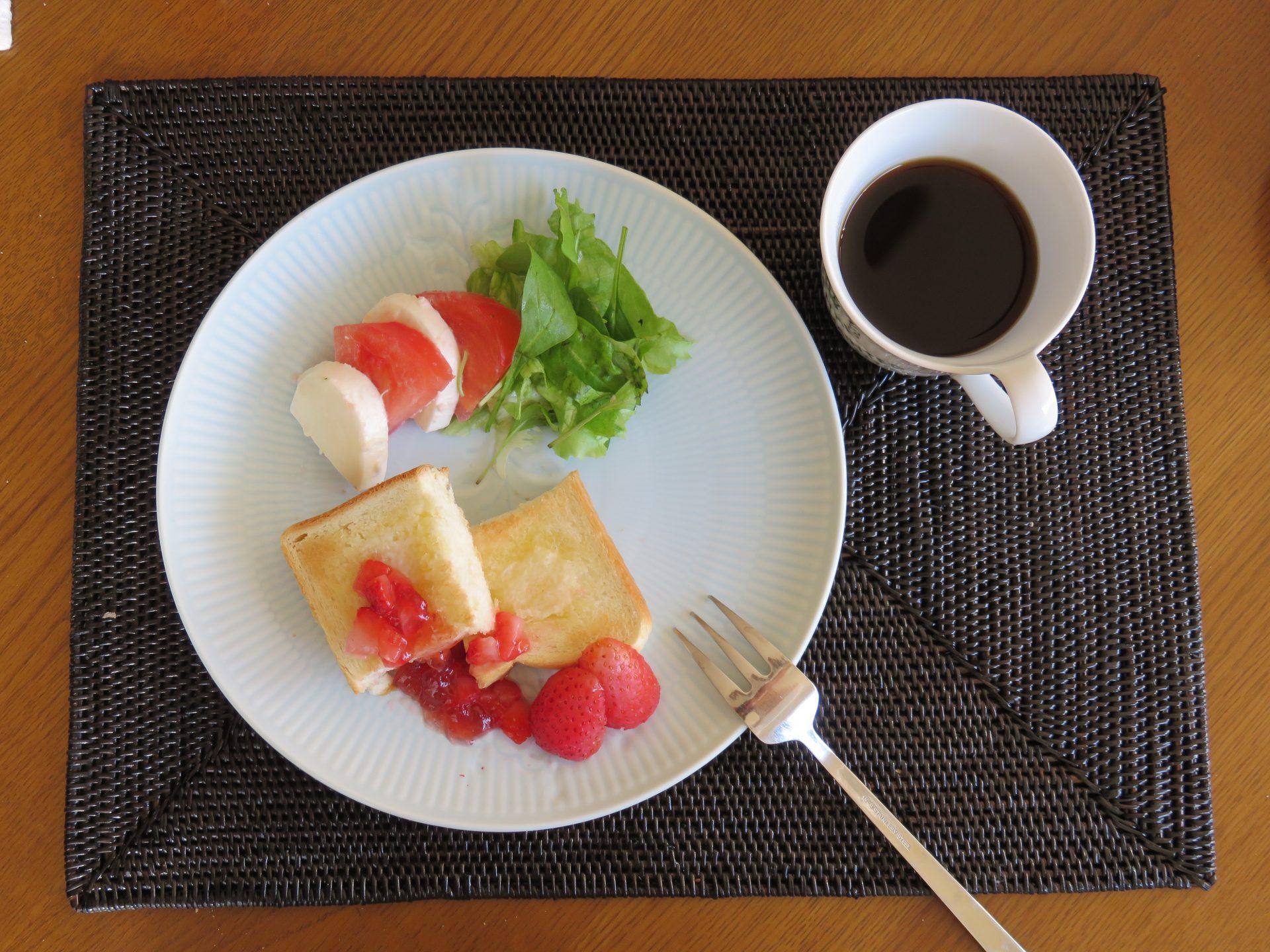 少ないが理想的な朝食