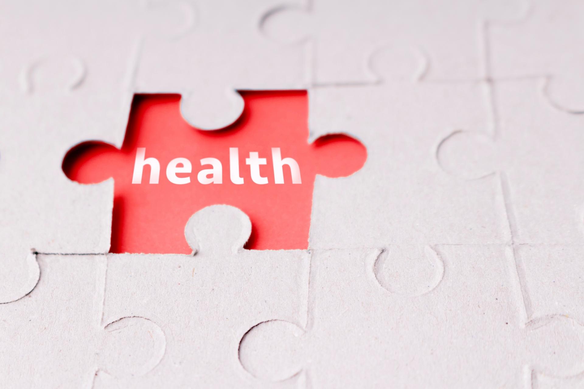 ヘルスと書かれたパズルのピース