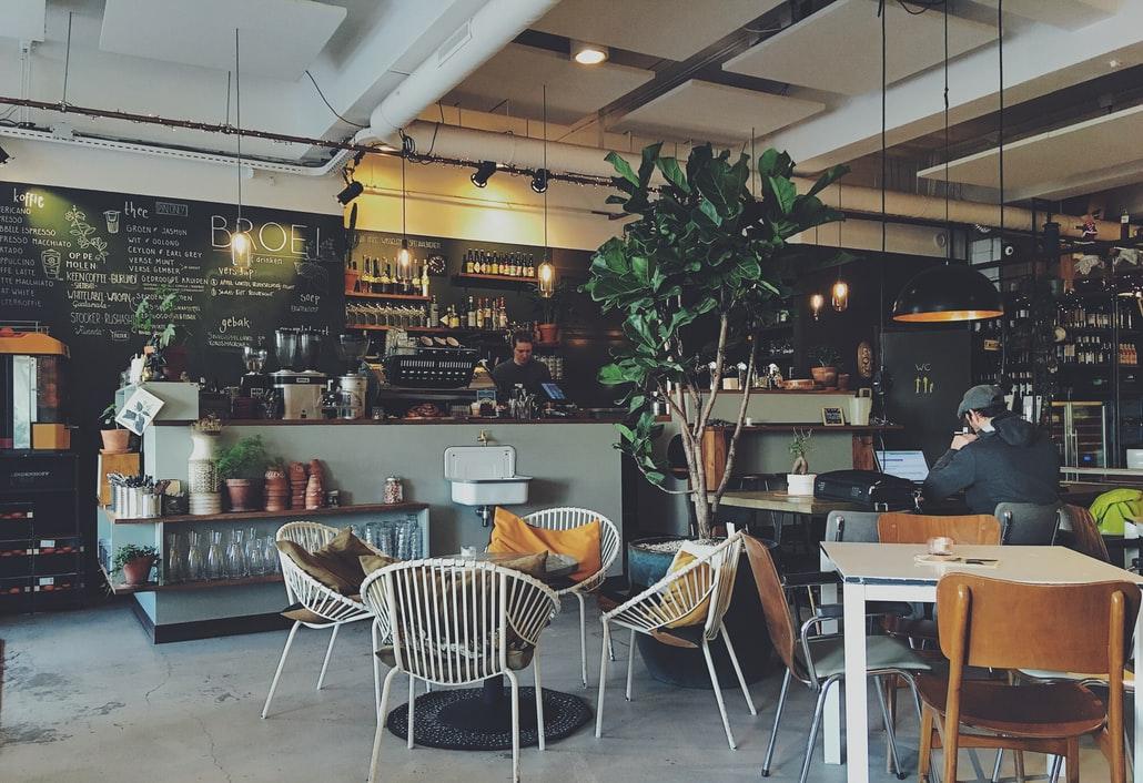 カフェの全体像