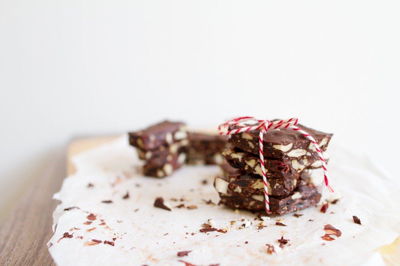 砕かれたチョコレート