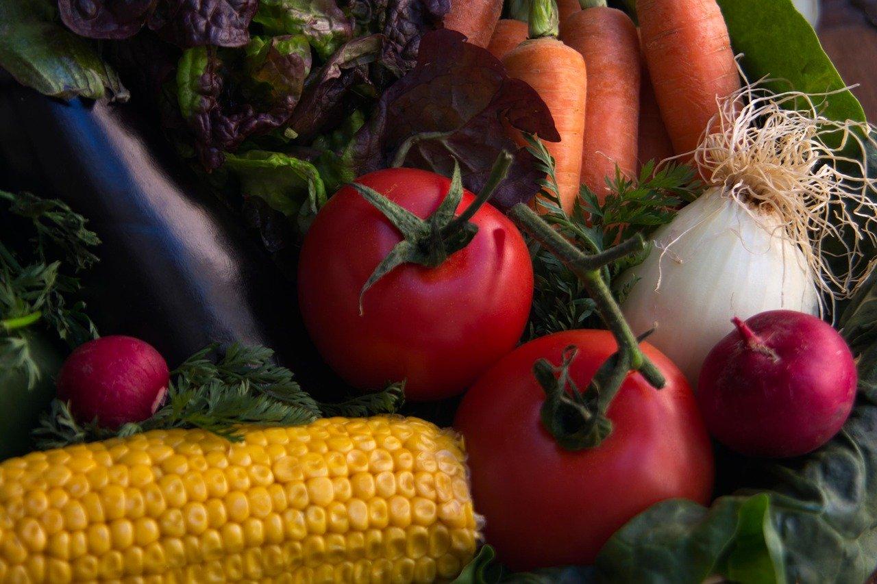 大きく撮影された野菜