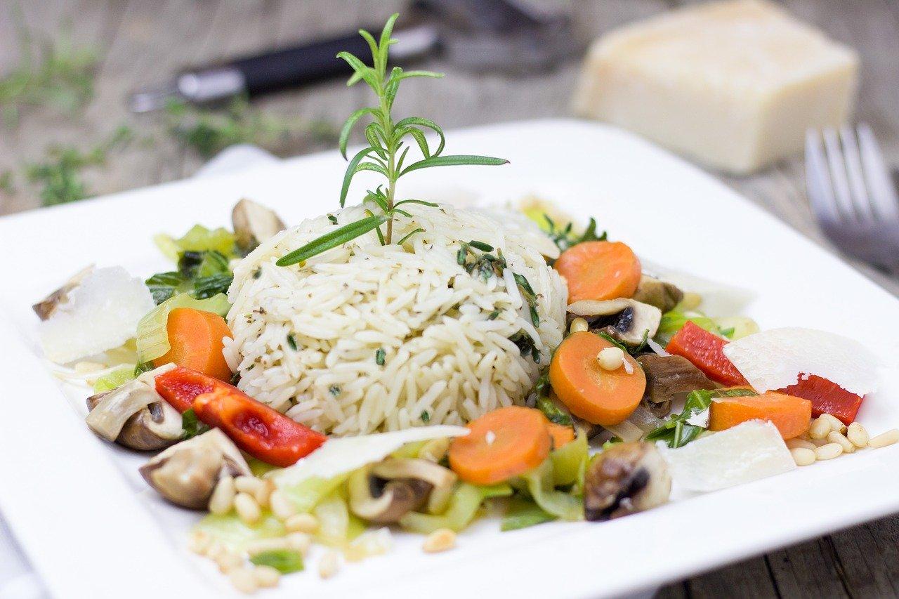 ライスとオーガニック野菜