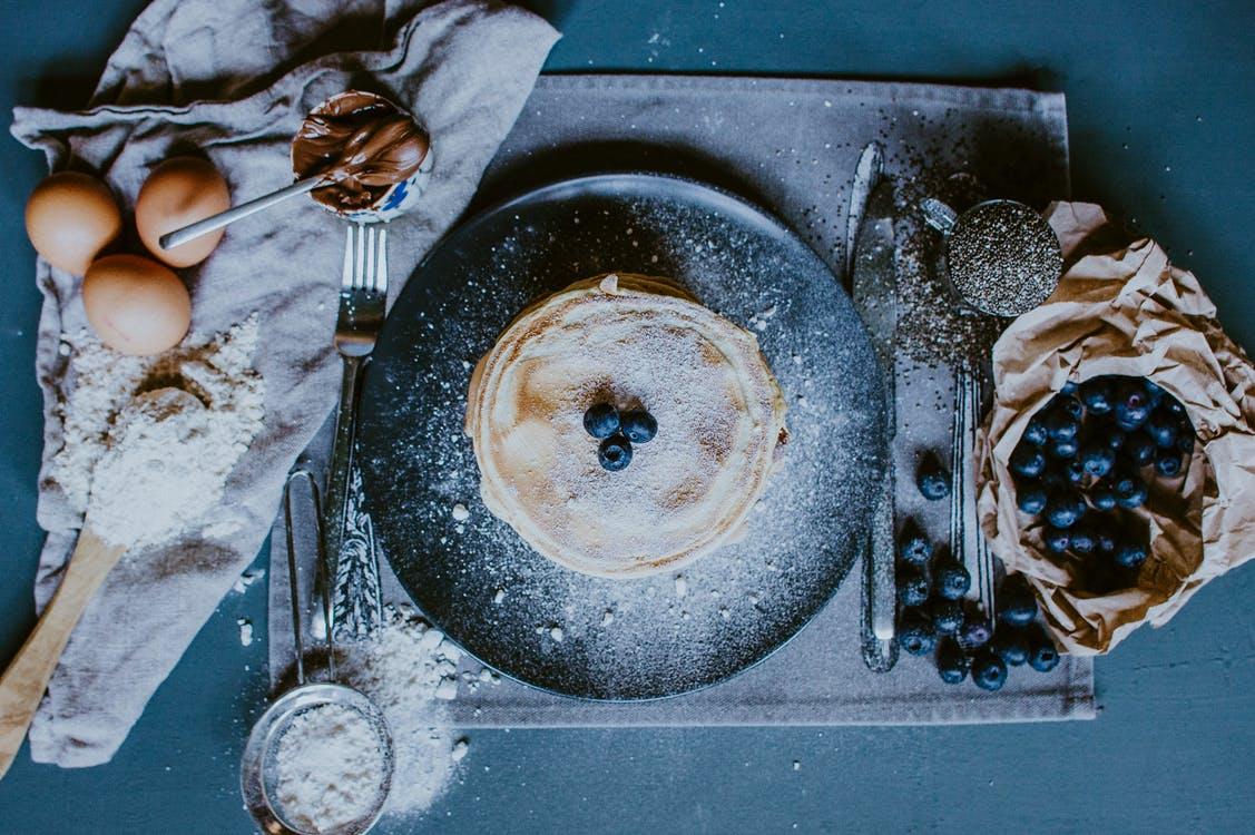 白砂糖たっぷりのオーガニックのパンケーキミックス