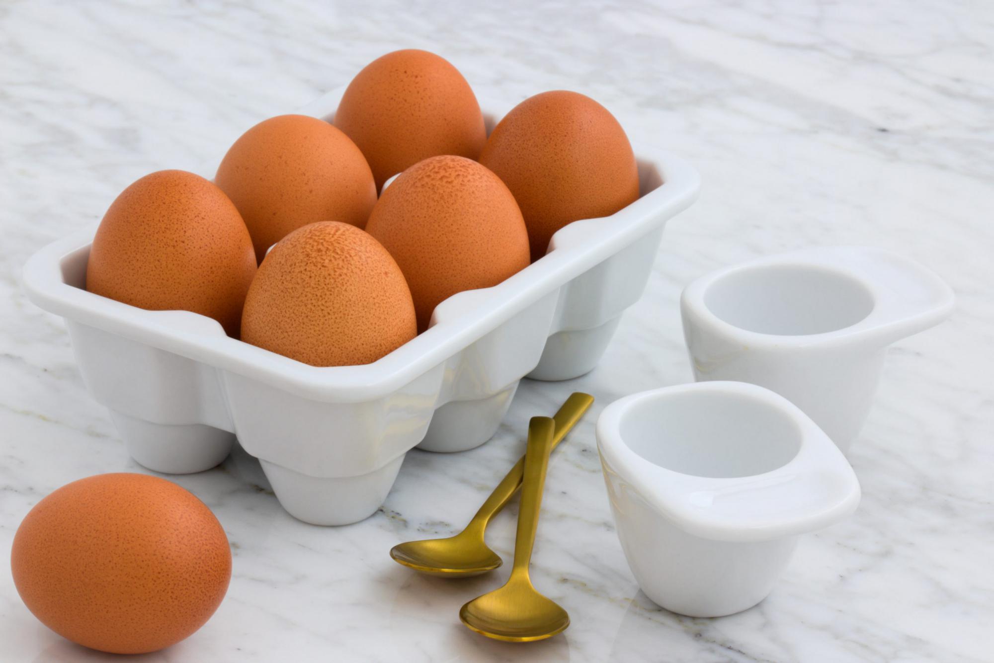 届いたばかりの卵