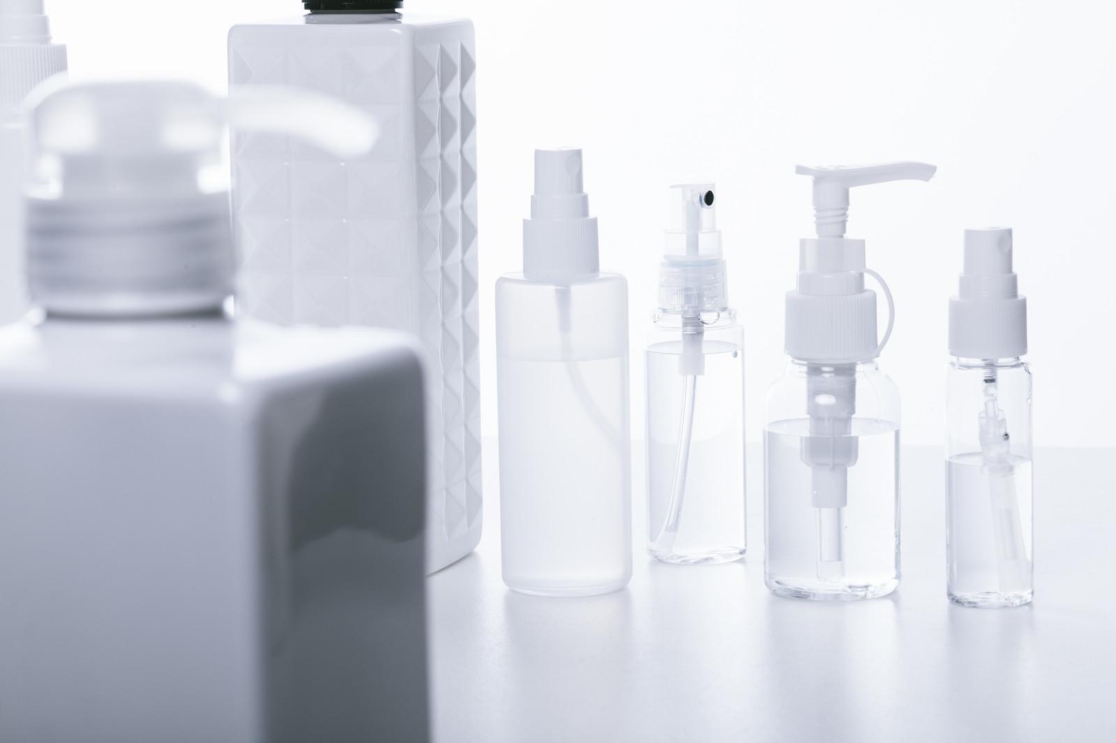 オーガニックの乳液を入れる容器