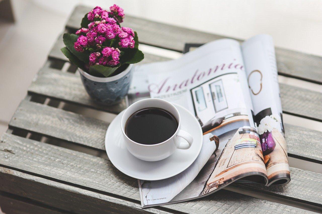 ブラックコーヒーと本