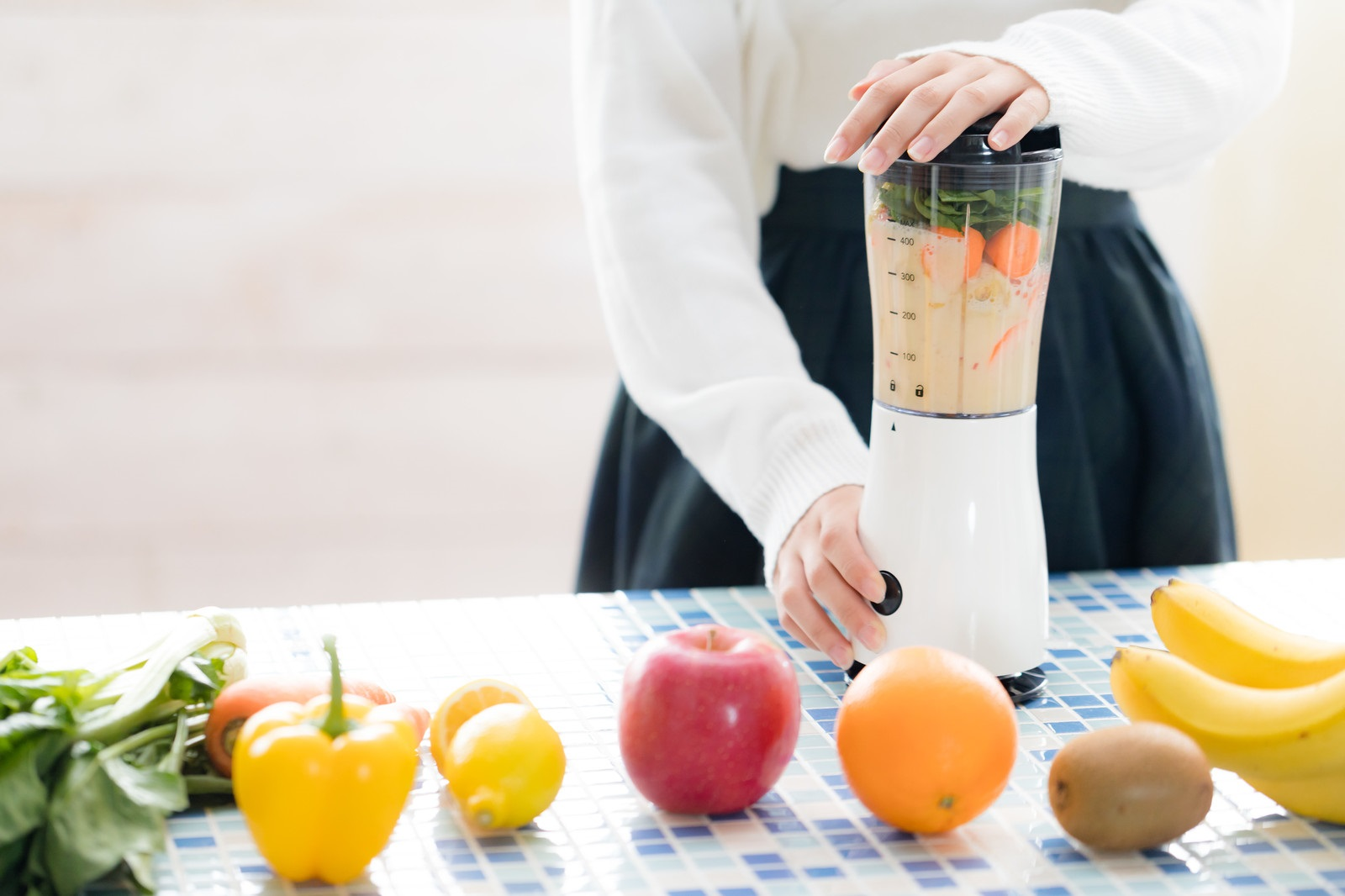 オーガニックの野菜ジュースを作る
