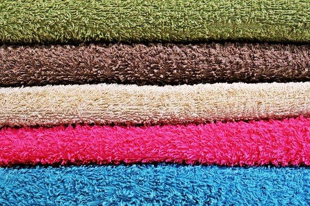 5色のカラータオル