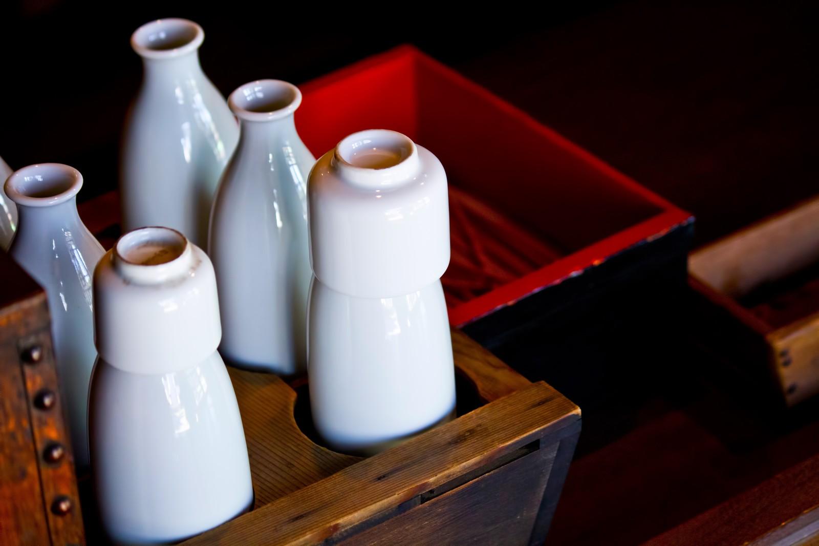 オーガニックの日本酒の徳利