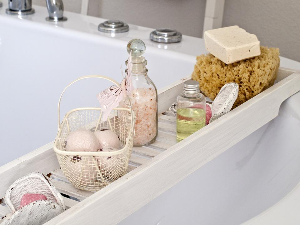 オーガニックのボディソープとソルトとお風呂