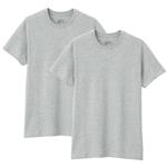 無印良品 脇に縫い目のない 天竺編み2枚組Tシャツ