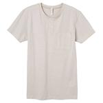 ピープルツリー メンズ・オーガニックコットンヘンリーネック 半袖Tシャツ