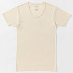 プリスティン 半袖UネックTシャツ / オーガニックコットン